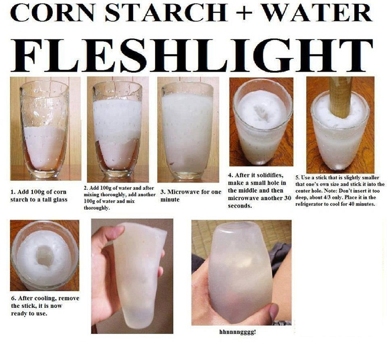 cornstarch DIY homemade fleshlight pussy