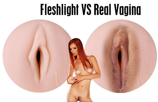 Pocket pussy flashlight